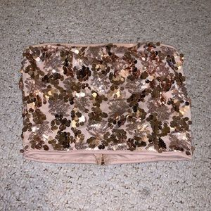Rose gold sequin tune top clubbing top